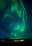 Aurora borealis (Northern Lights) over Hamn, Senja