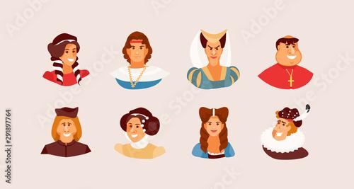 Fotomural Portraits of medieval people