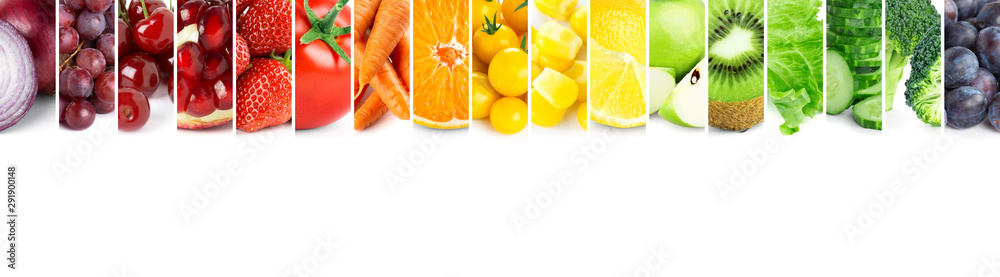 Fototapety, obrazy: Fruits and vegetables. Fresh color food