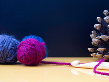 Autumn Crochet Image With Ball...