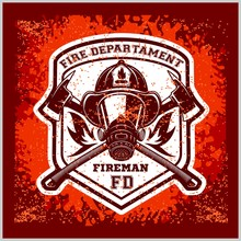 Firemans - T-shirt Graphics, Fire Department, Sworn To Protect