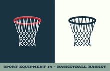 Vector Basketball Basket Icon....