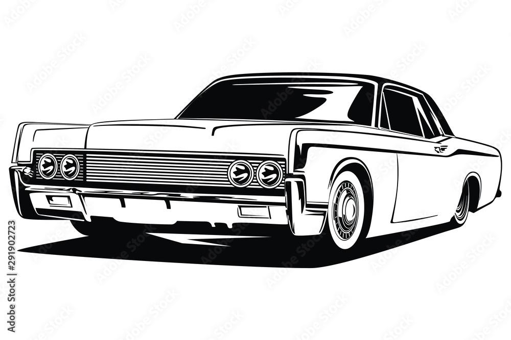 Fototapeta classic car