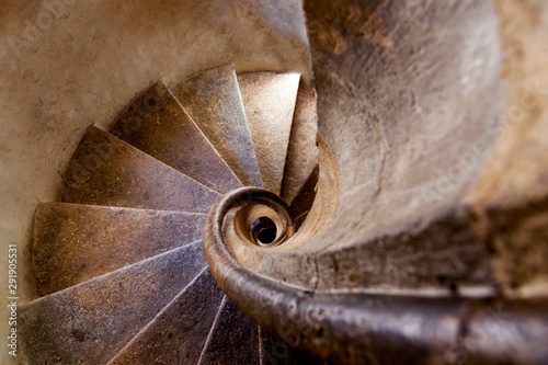 Photo sur Toile Spirale Double spiral stone staircase at Graz Castle, Graz, Austria