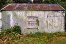 Old Abandoned Rusty Shed