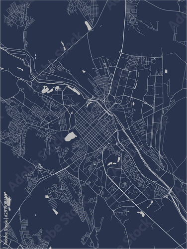 map of the city of Chisinau, Moldova Canvas Print