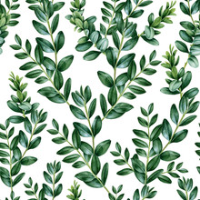 Seamless Pattern Made Of Green...