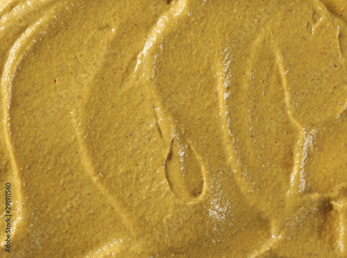 Canvas Print Yellow mustard sauce, spread, background and texture