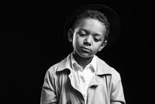 Black And White Portrait Of Sa...