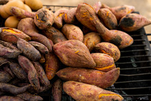 Sweet Potatoes Farm Fresh - Beautifully Displayed In Market