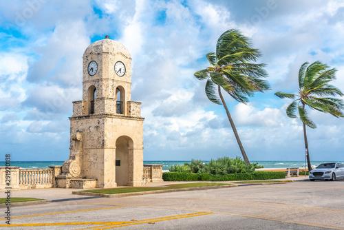 Palm Beach Worth Avenue clock tower Florida USA Wallpaper Mural