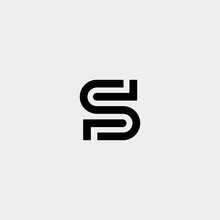 Letter S SS Logo Design Simple...