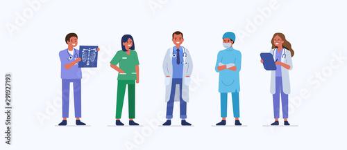 Fotografía People characters work in Hospital