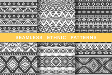 Ethnic seamless patterns.