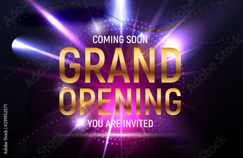Fotografia Grand opening concept. Vector Illustration