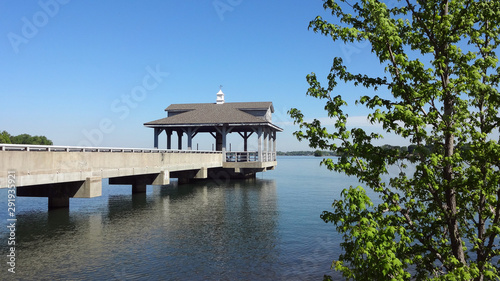 A pier at Blythe Landing, Lake Norman, Huntersville, NC Canvas Print