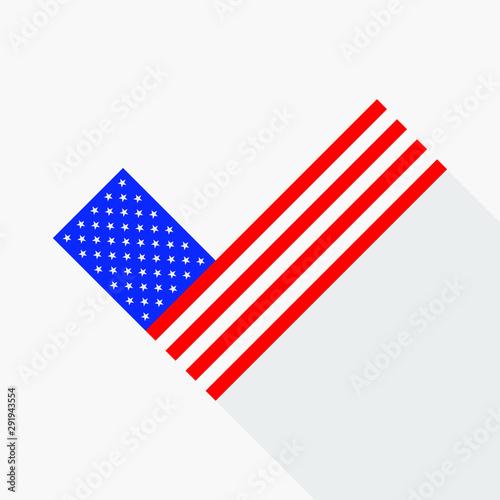 Valokuvatapetti Political election voting poster USA flag check box Yes sign