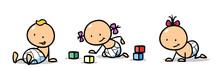 Gruppe Kleinkinder Und Babies ...