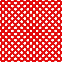 Seamless Christmas Wrapping Paper Pattern. Festive Christmas Dot Pattern. White Dots On Red Background