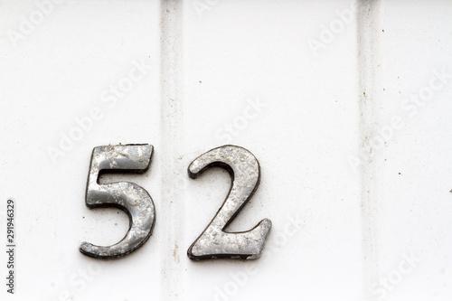 Fotomural House number 52