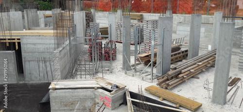Fototapeta Cantiere edile - lavori in corso