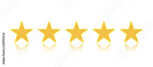 Cuadros en Lienzo  Rating stars or 5 rate review vector