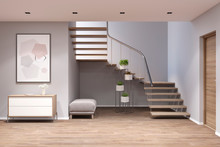 3d Illustration. Entrance Hall...