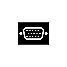 VGA Icon. Tv Cable Socket Symbol