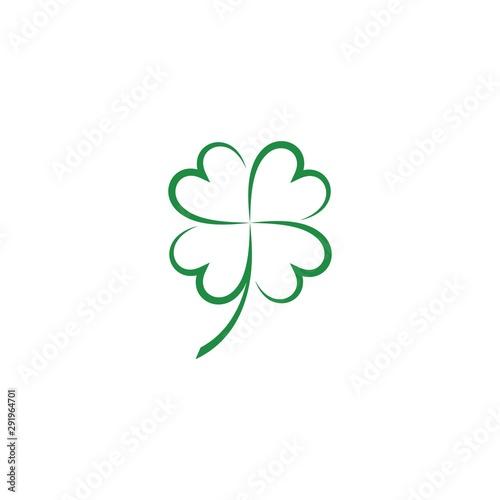 Fotografía Green Clover Leaf  icon Template