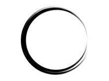 Grunge Circle Made Of Black Pa...