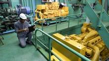 Asian Engineer Working In Engi...