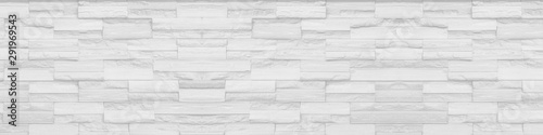 Fotomural  white clean Slate Marble Split Face Mosaic  pattern and background brick wall fl