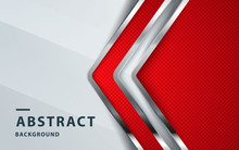 Red Abstract Backgrund Vector, Modern Corporate Concept With Silver Effect.