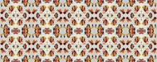 Ikat Seamless Pattern.