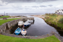 Small Harbour At Blackwaterfoot Arran