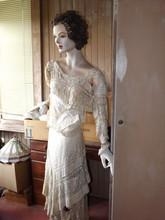 Antique Mannequin In Beautiful Dress