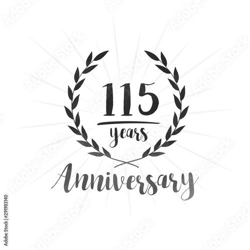 Tela  115 years anniversary celebration logo