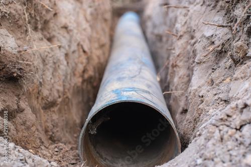 Underground PVC water pipes that have not been buried. Tapéta, Fotótapéta