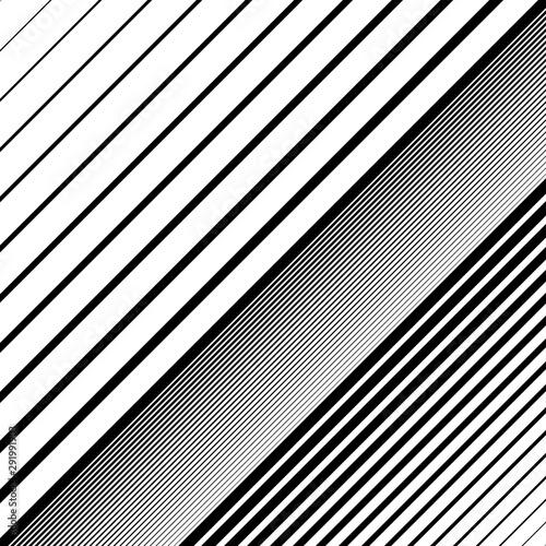 Oblique, diagonal dynamic lines pattern Wallpaper Mural