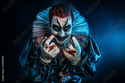 Foto scary clown man