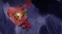 Graphic Abstract Butterfly Emr...
