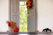 Home Entrance. Halloween Decor...