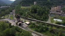 Panning View Of Conveyor And E...