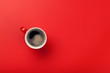 canvas print picture - Red coffee cup