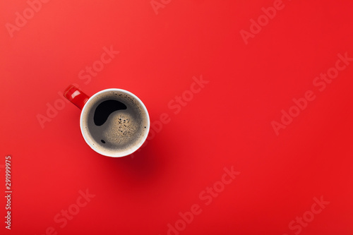 Red coffee cup - 291999975