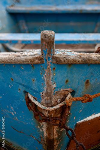 Foto  proue d'une vieille barque