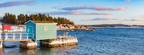 Slika na platnu Newfoundland fishing stages at Twillingate NL Canada