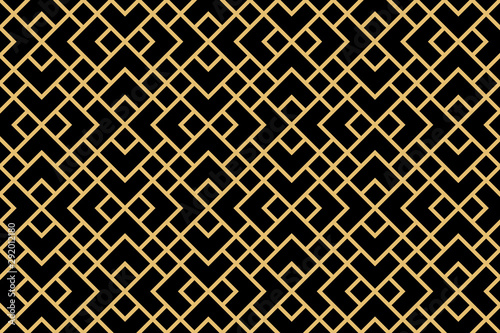 Türaufkleber Künstlich The geometric pattern with lines. Seamless vector background. Gold and black texture. Graphic modern pattern. Simple lattice graphic design