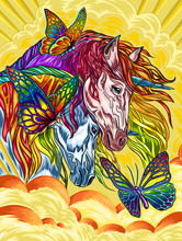 Abstract Background With Horse