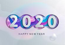 Happy 2020 New Year Modern Gre...